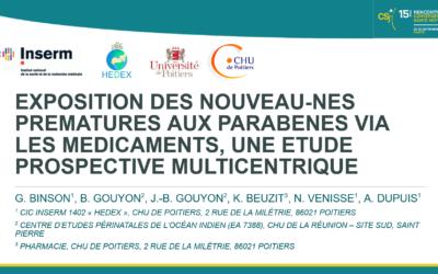 Exposition des nouveau-nés prématurés aux parabens via les médicaments, une étude prospective multicentrique